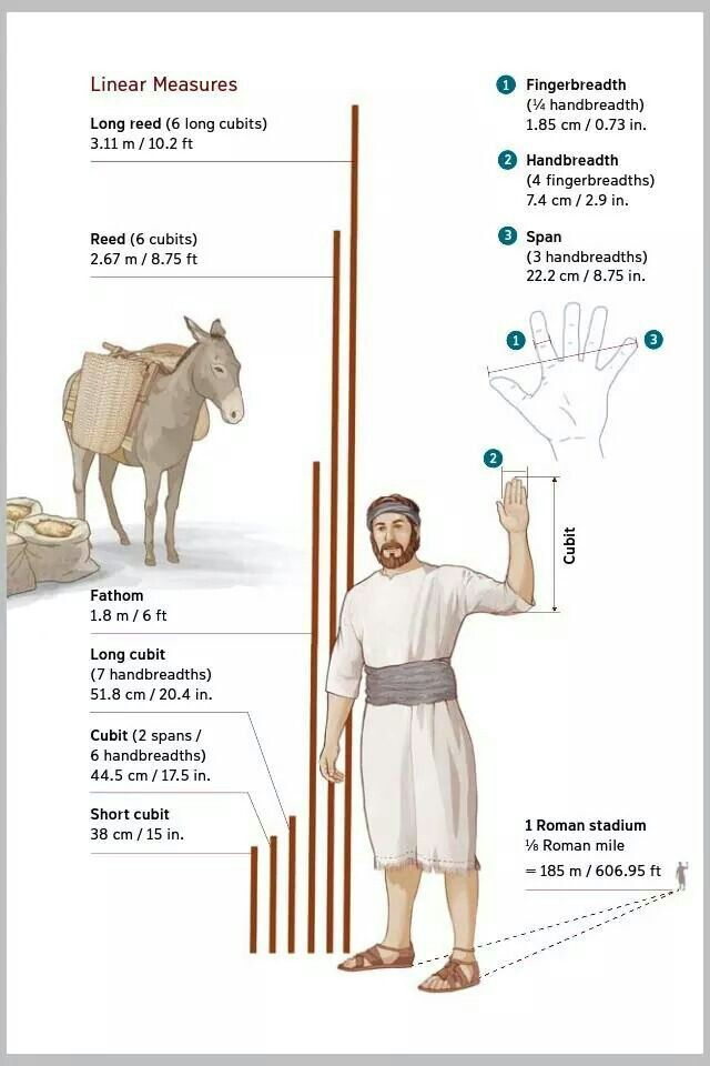 Linear measures in the Bible