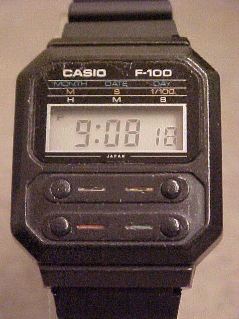 6f3979ba65294 Casio  Early Casio F-100 Wristwatch photos