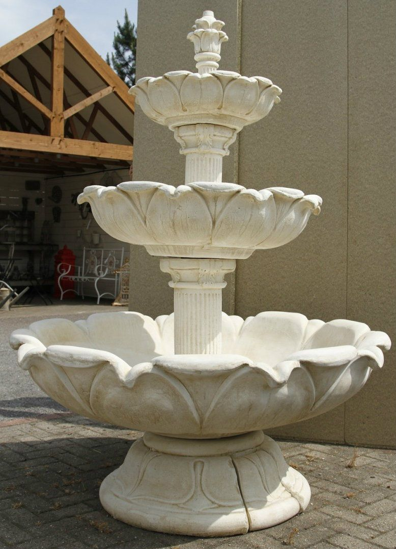 Lovely Discount Garden Statues   Huge 3 Tiered Tulip Shape Water Feature 6ft 4in  HIGH, £
