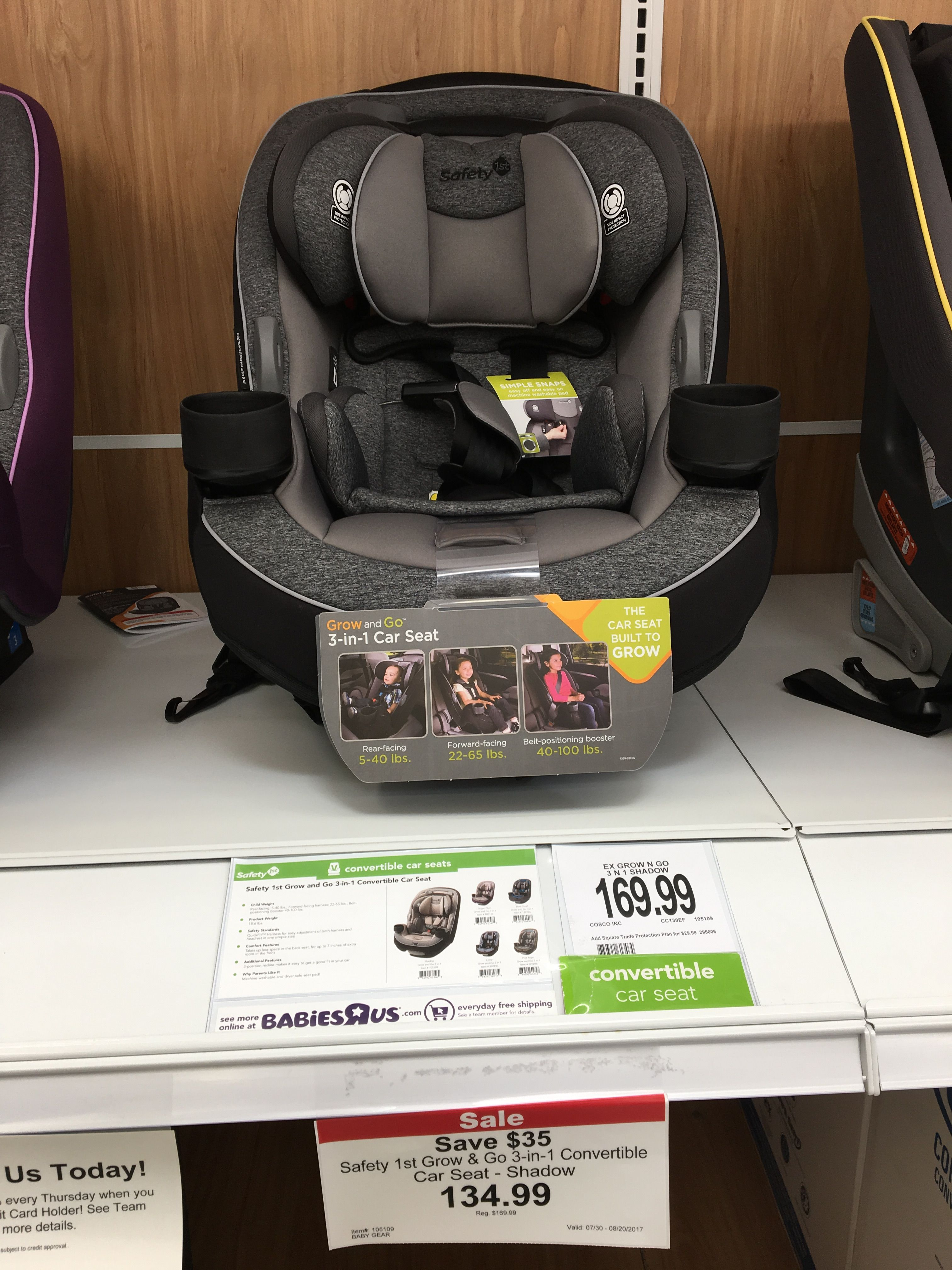 Safety 1st Grow and Go(TM) 3in1 Convertible Car Seat