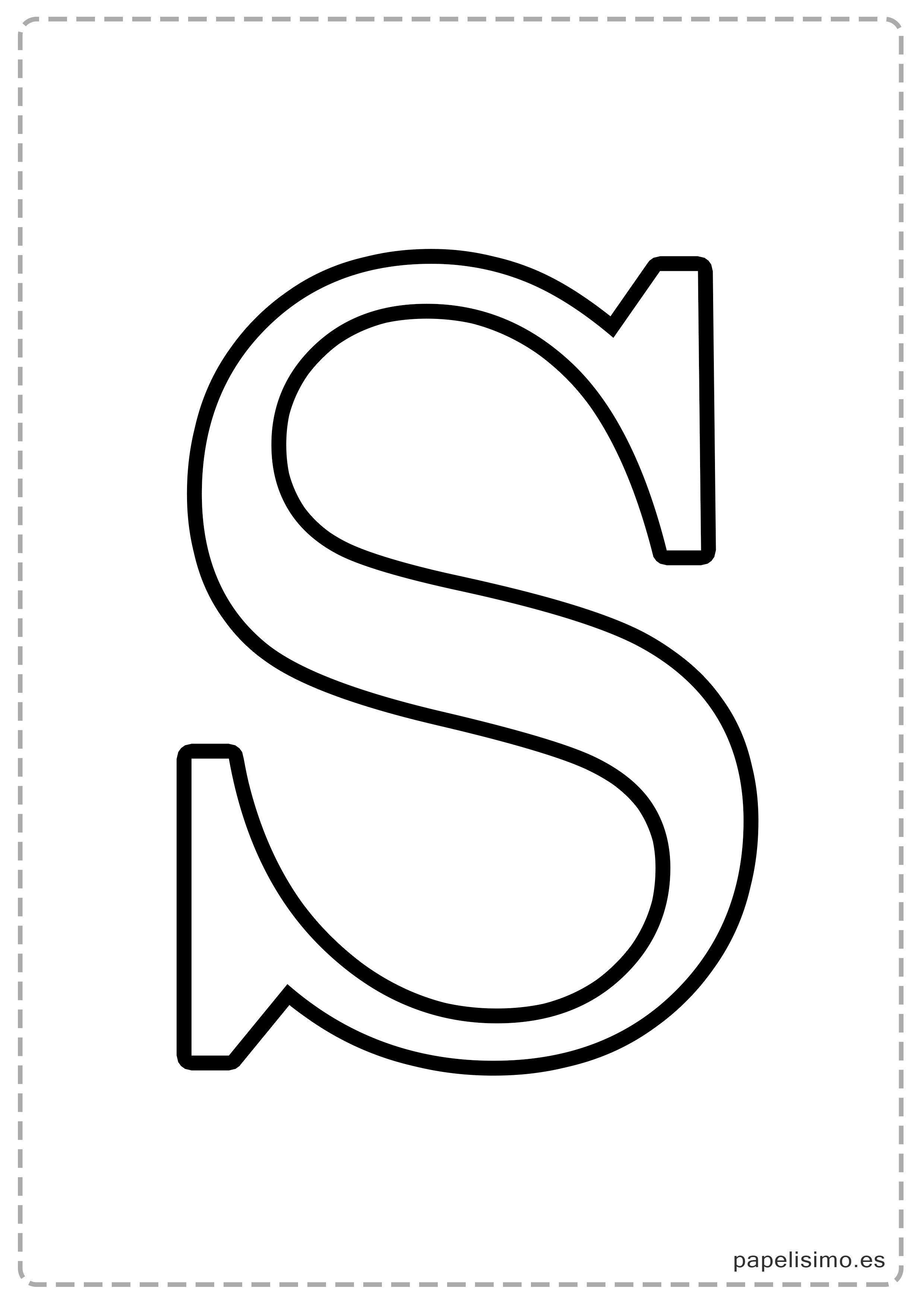 S Abecedario Letras Grandes Imprimir Mayusculas Jpg 2480 3508