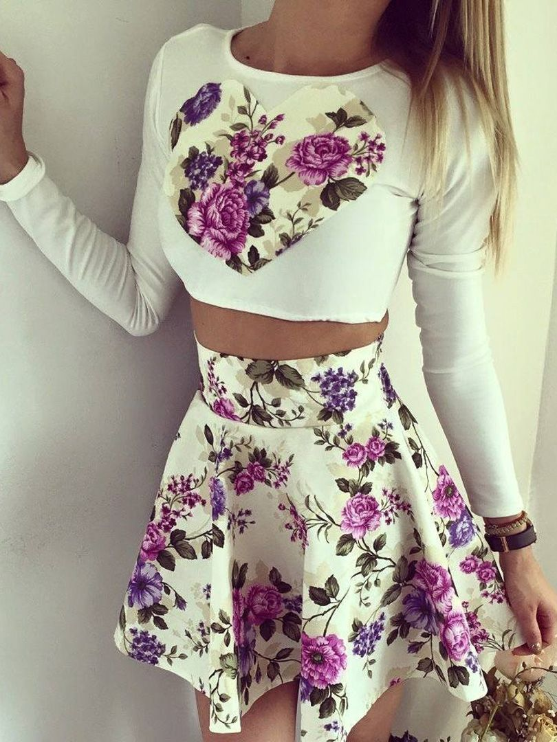 Love the 2-piece dress look. would prefer a fun, floral print, but ...