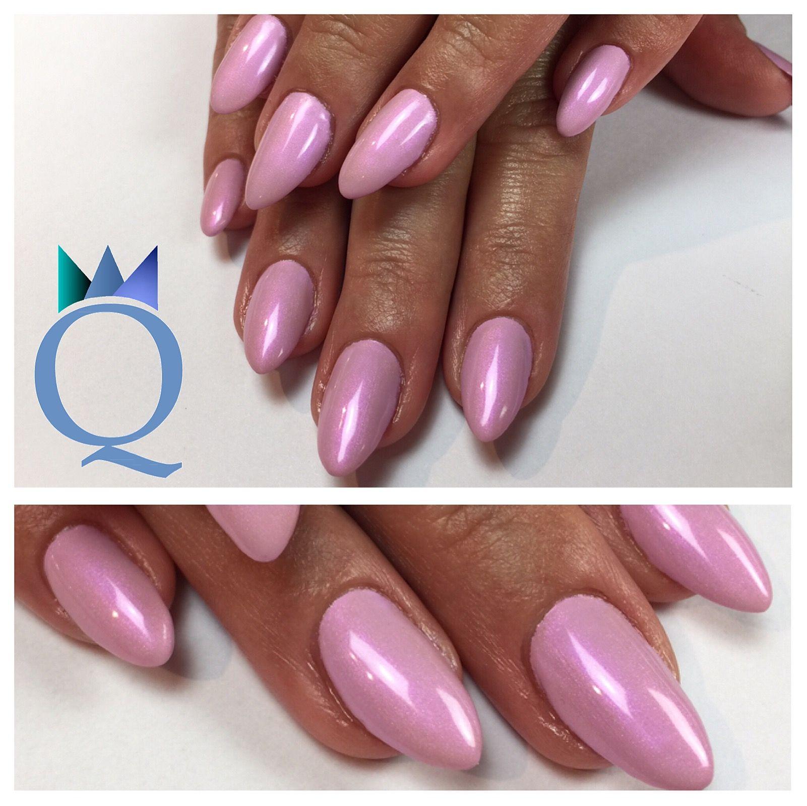 almondnails #gelnails #nails #rose #shimmer #mandelform #gelnägel ...