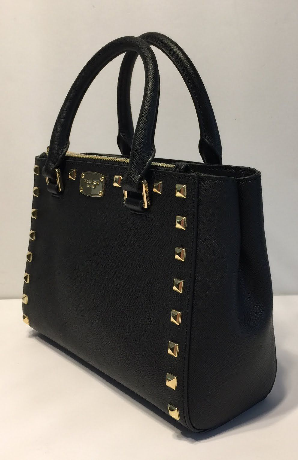 6f978bdba6e443 MICHAEL Michael Kors Kellen Studded XS Satchel Black -- Be sure to check  out this awesome product. (This is an affiliate link) 0
