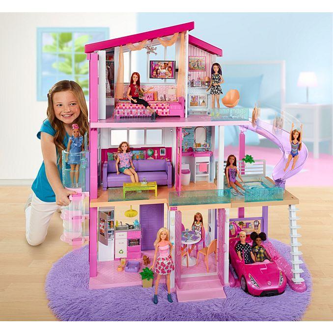 Barbie Dreamhouse Dollhouse W Pool Slide Elevator Fhy74