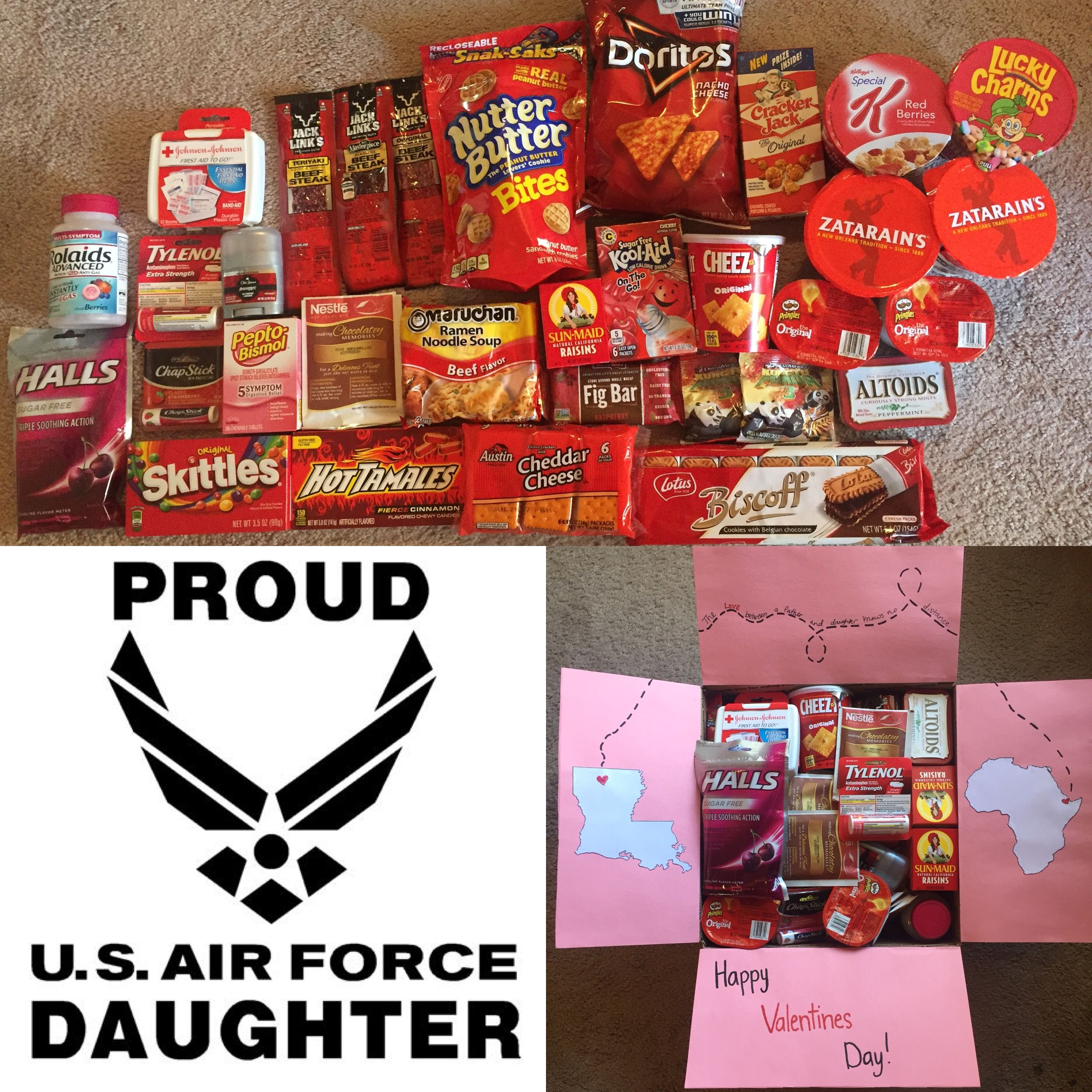 First Care Package For Dad! Louisiana To Africa. Valentine