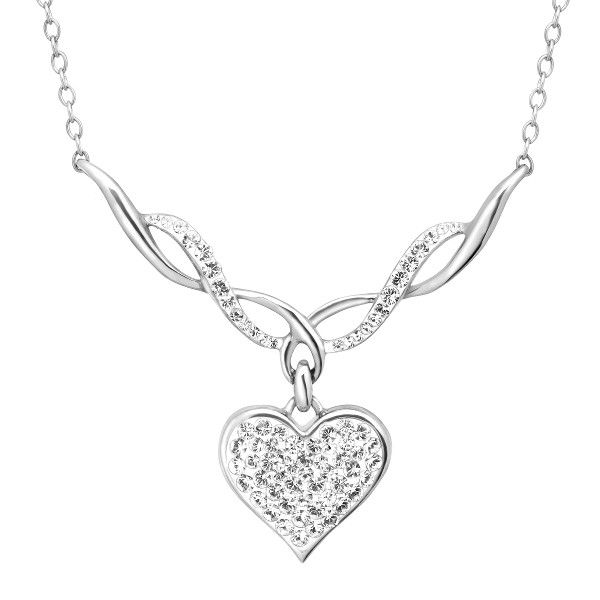 Crystaluxe Heart Necklace With Swarovski Crystal In