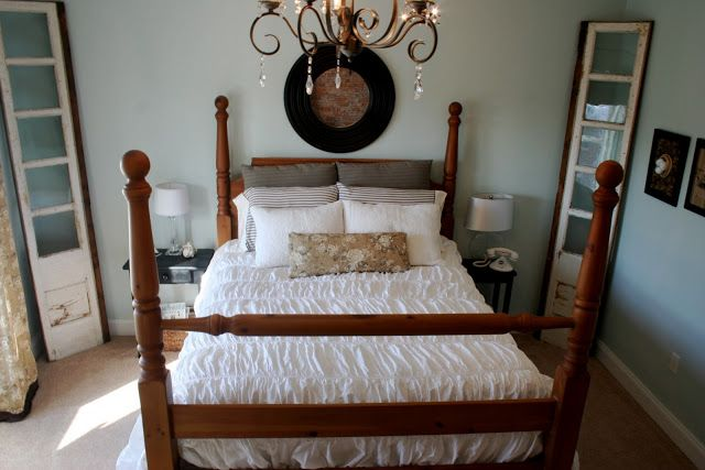 Making of a Master Bedroom on a Budget - Home Stories A to Z.  In your eyes - Benjamin Moore