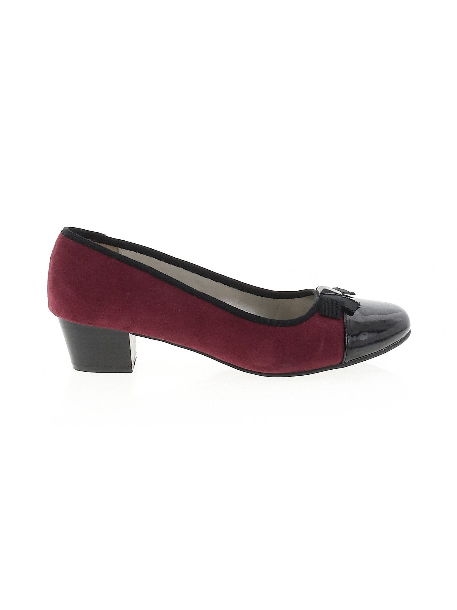 London Fog Heel Burgundy Solid Women S Shoes Size 9 1 2 Women Shoes Second Hand Clothes Heels