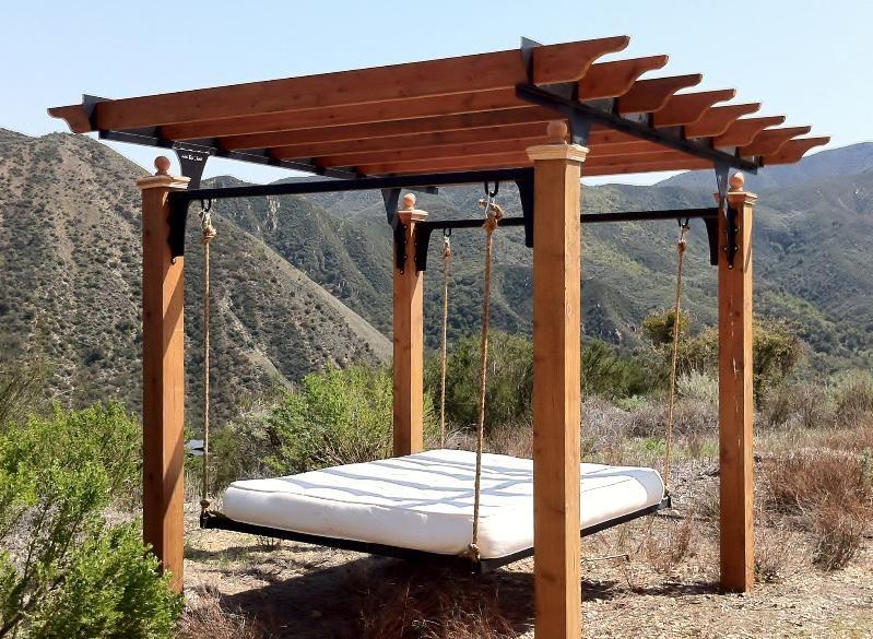 Arizona Pergola With Hanging Bed Steel Gazebo Iron Pergola Gazebo