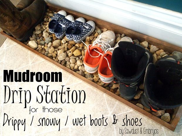 Diy Drip Tray For Wet And Muddy Shoes Drip Tray Diy Projects Plans Shoe Boots