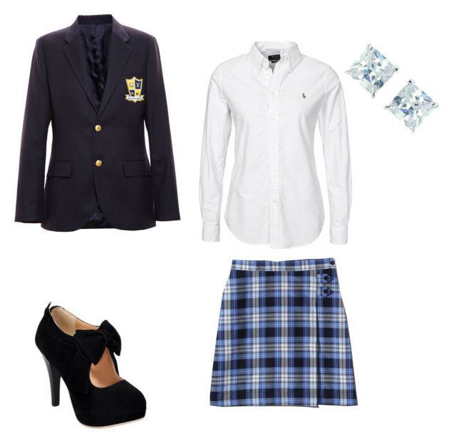 """Uniform"" by crystalw-99 ❤ liked on Polyvore featuring Enfants Riches Déprimés, Polo Ralph Lauren, Lands' End and Georgini"