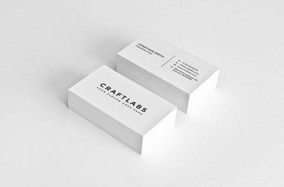 Einfache Visitenkarten Design Template Photoshop Vorlagen