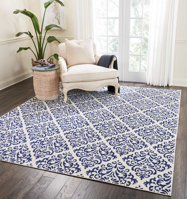 Florissant White Blue Area Rug Blue And White Rug Area Rugs Blue Area Rugs