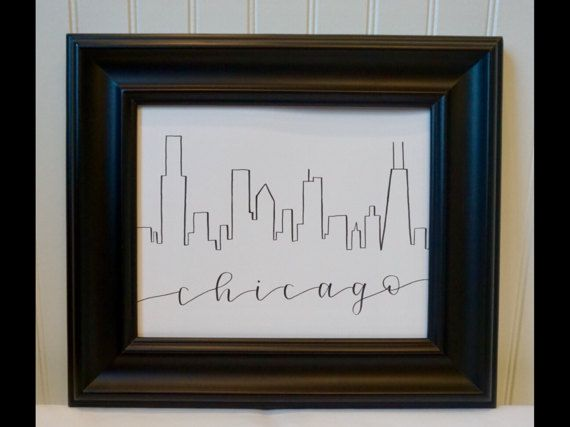 Chicago Skyline by 2MintyCrafts on Etsy