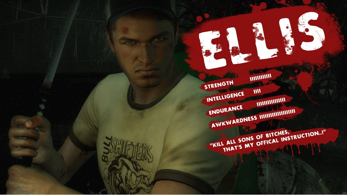 Ellis stats LEFT 4 DEAD 2     not so intelligent  | Games