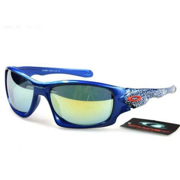 afbf575225  17.5 Cheap Oakley Scalpel Sunglasses Yellow Blue Iridium Blue Frames Shop  Deal www.racal.org