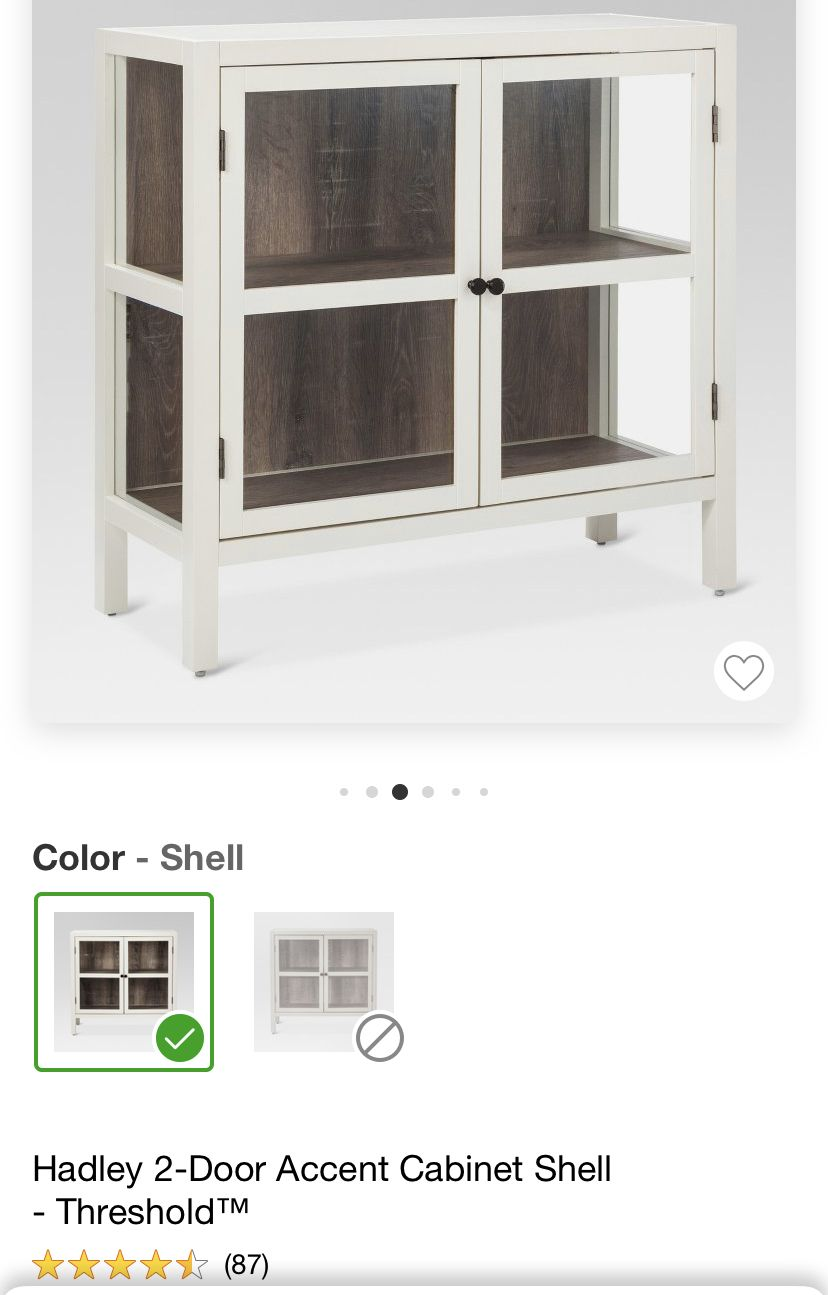 Target Hadley 2 Door Accent Cabinet Shell Color 169 99 The Contrast On This Piece Is Outstanding I Love White Cab