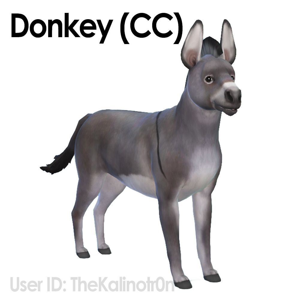 Kalino Animals Horse Zebra And Donkey Cc All The Sims Pets Sims 4 Pets Sims 4