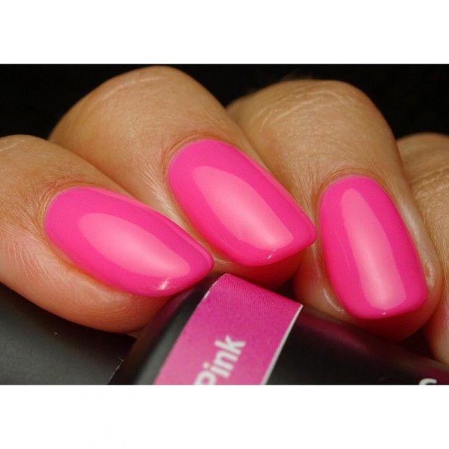 Get Pink Gellac 138 Neon Pink Gel Nail Polish Colour At Www