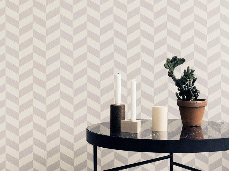 papier peint motifs optical en tissu non tiss angle by ferm living graphique rev tement. Black Bedroom Furniture Sets. Home Design Ideas