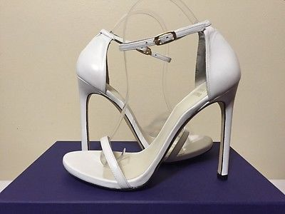 Stuart Weitzman Nudist White Nappa Leather Women's Fashion Heels Sandals 7.5 M - EXCLUSIVE DEAL! BUY NOW ONLY $320.0