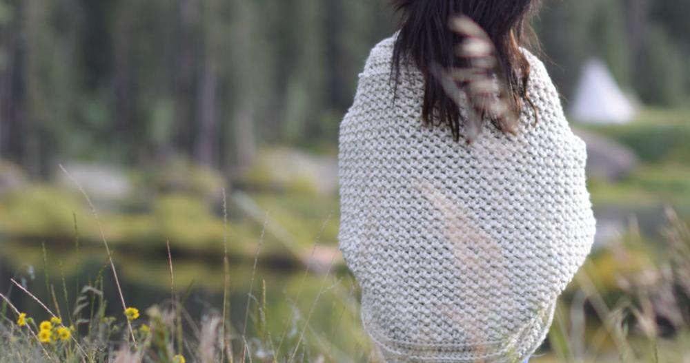 Cozy Blanket Cardigan #blanketsweater