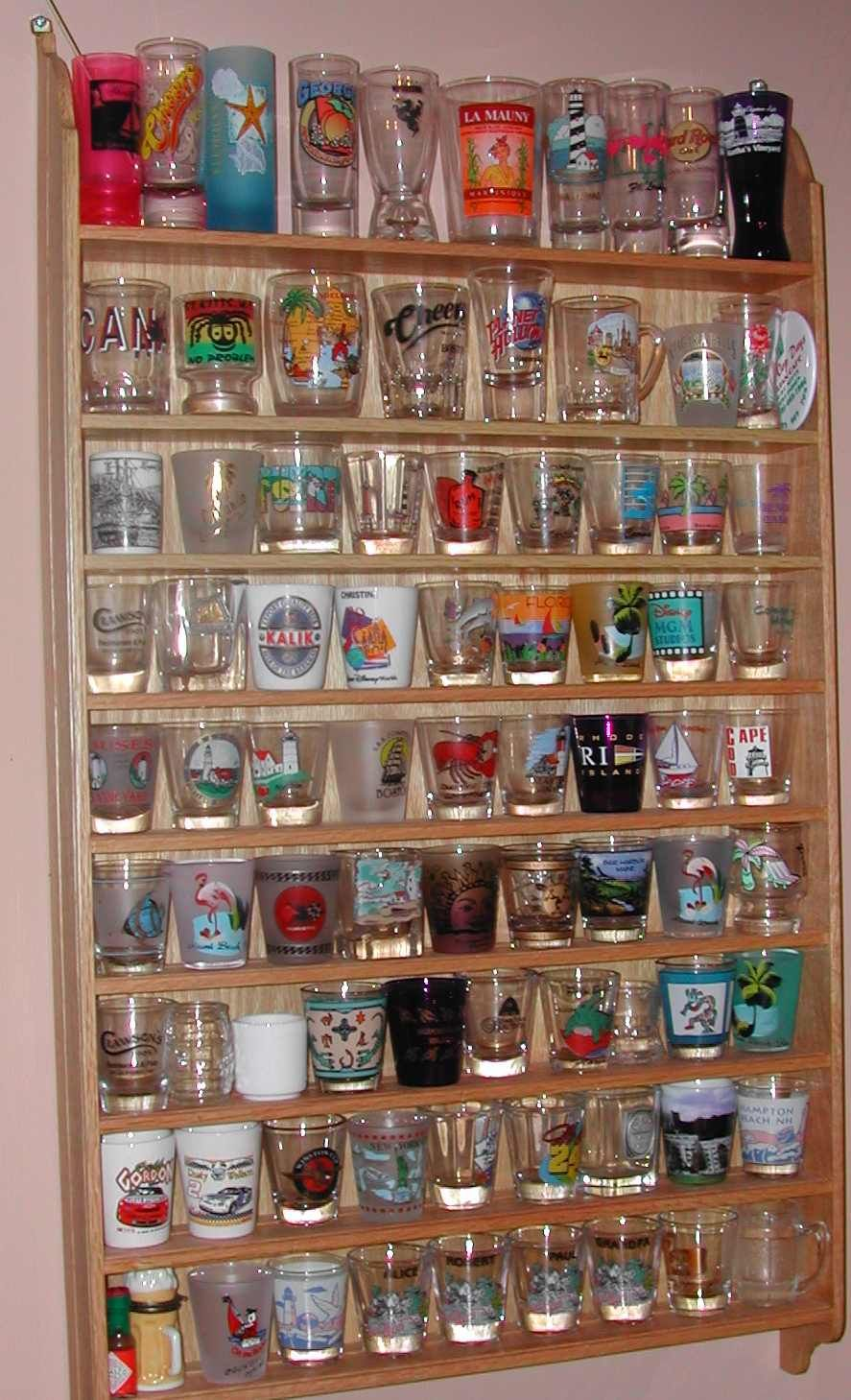 I Collect Shot Glasses From All 50 States And Also Countries Also Including Places I Ve Been Glass Collection