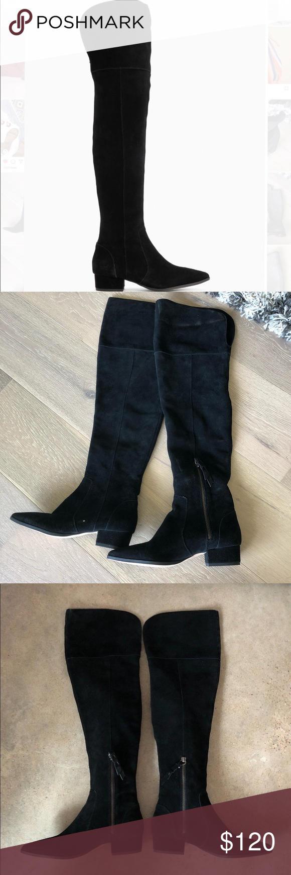 c3e489a9822 Splendid knee highs boots Splendid ruby black suede flat over the knee  boots Splendid Shoes Over the Knee Boots