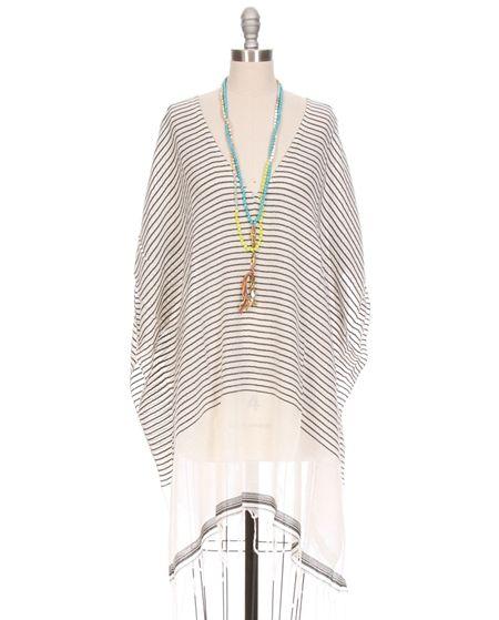 Luma Rolled Sleeve Tunic by SU Luxury Resort Necklaces by Chan Luu