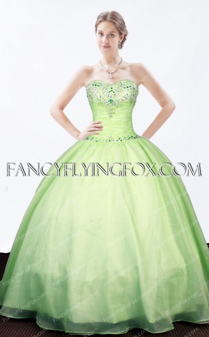 3aae6a078b5 fancyflyingfox.com Offers High Quality Lovely Sage Colored Ball Gown Quince  Dress