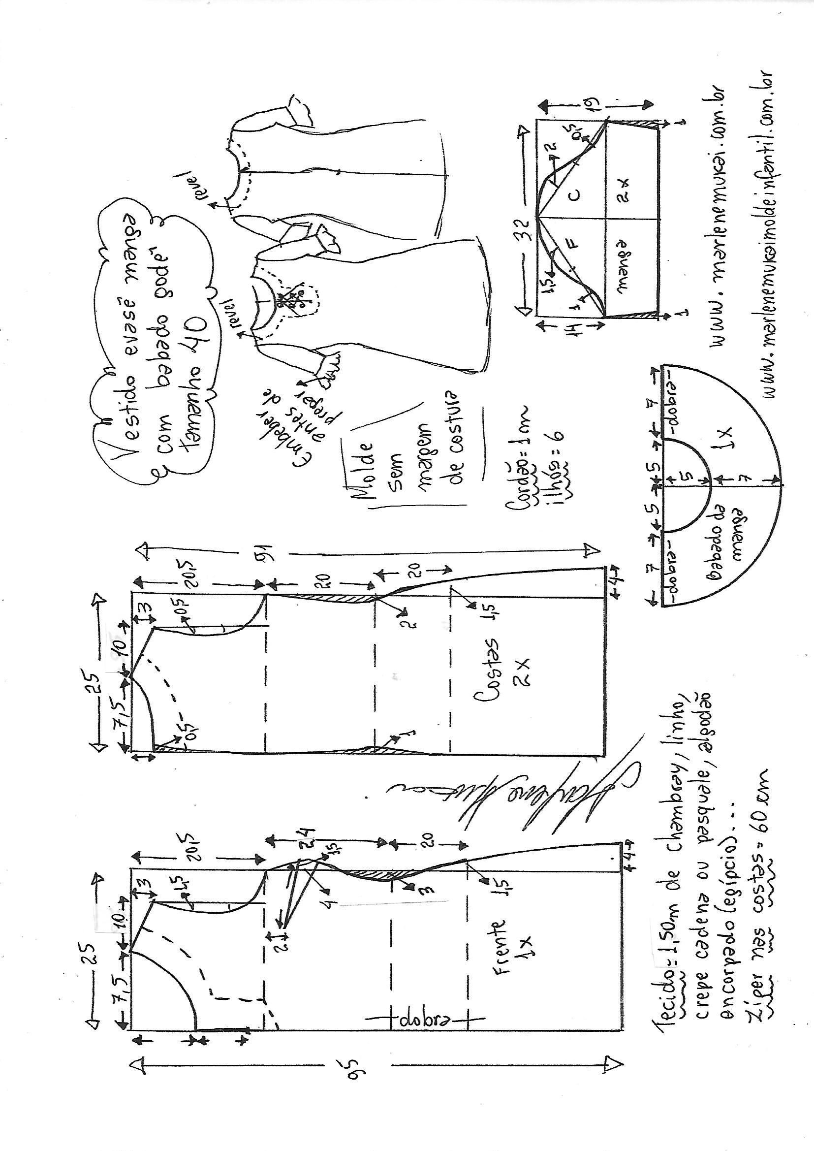 Pin by Sonia Craddock on Sewing patterns   Costura, Moldes, Patrones ...