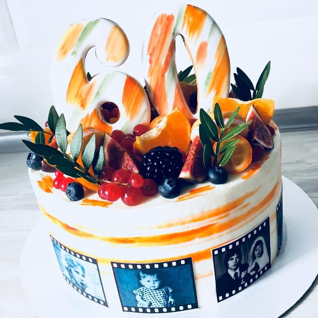 Тортик на юбилей для любимой мамы и бабушки🧡🧡🧡 # ...