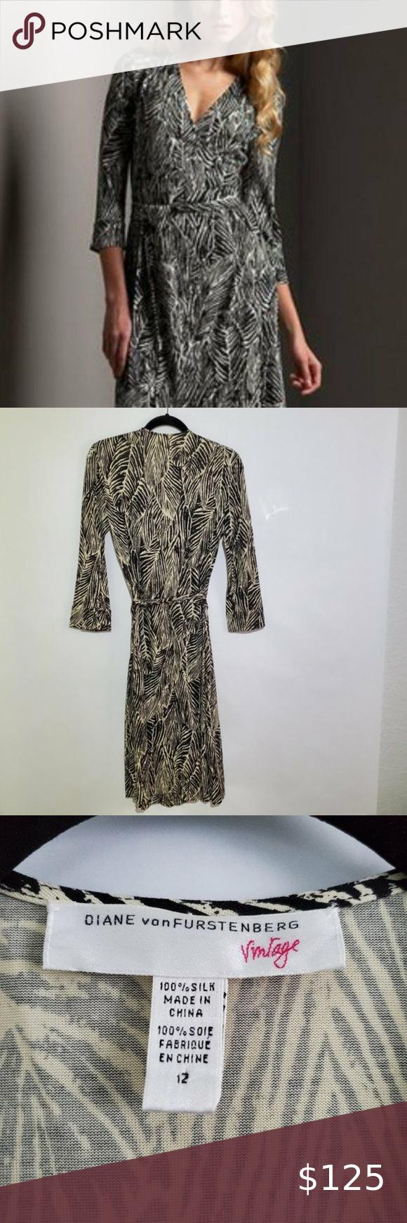 Diane Von Furstenberg Dvf Rare Vintage Dress Vintage Wrap Dress Vintage Dresses Dvf Wrap Dress [ 1740 x 580 Pixel ]