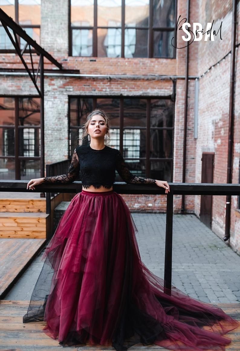 Black And Mulberry Magic Ombre Skirt And Sophia Boho Backless Etsy In 2021 Wine Wedding Dresses Gothic Gowns Black Wedding Dresses [ 1163 x 794 Pixel ]