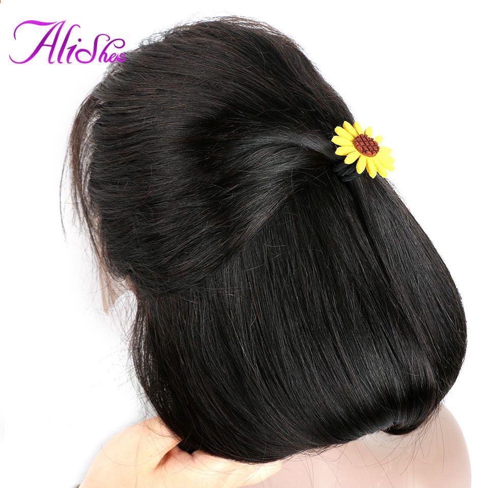 Alish parrucche diritte dei capelli umani del merletto ...