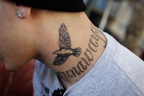 Pajaro Tatuaje Cuello Tattoo Cuello Tatuajes Cuello Paloma
