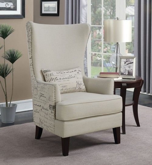Modern Wingback Cream Chair 904047. Accent ChairsScriptFine FurnitureCoastersLatest  StylesDallasTowerUpholstered ...