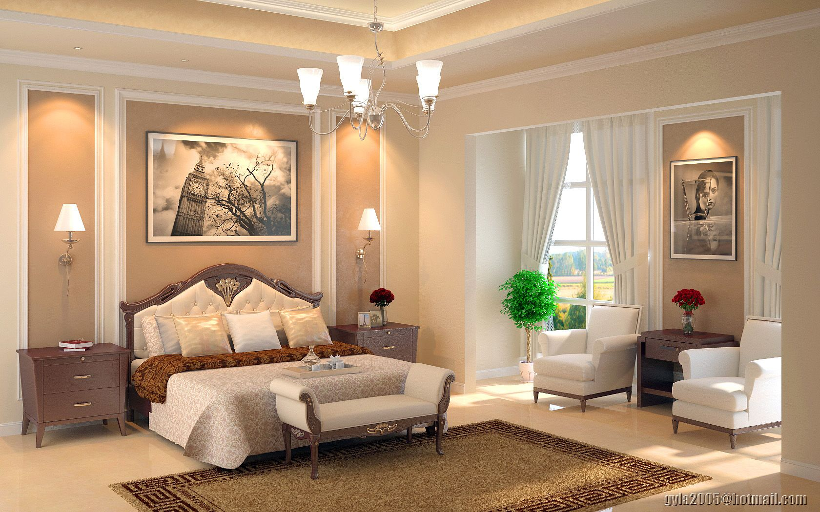 Master Bedroom Interior Design transitional interior design master suite bedroom | deviantart
