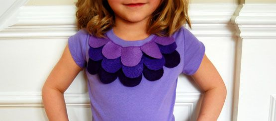 Felt Flower t-shirt tutorial-super cute idea!