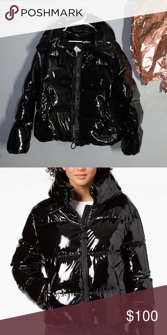 abd2f3553ad2f Kendall+Kylie Cropped Shiny Puffer Coat Kendall + Kylie rework this fierce puffer  coat with