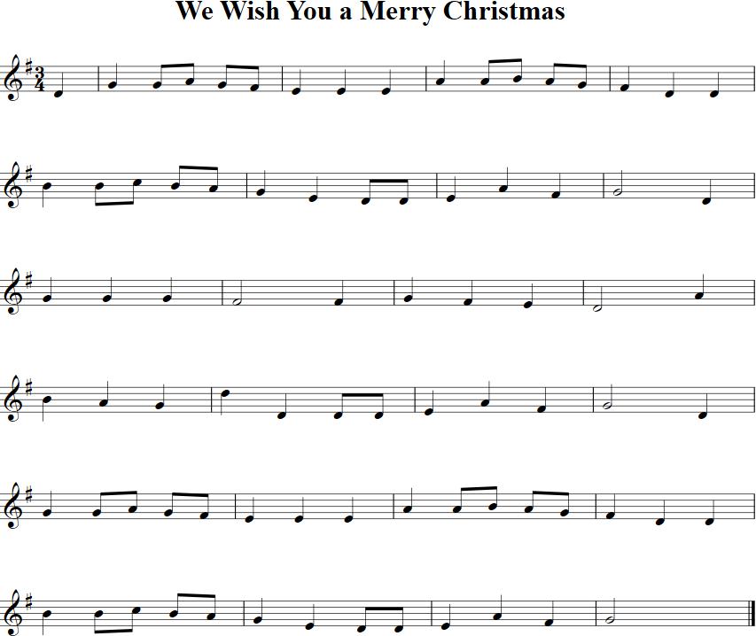 Free Christmas Violin Sheet Music O: We Wish You A Merry Christmas Sheet Music For Violin