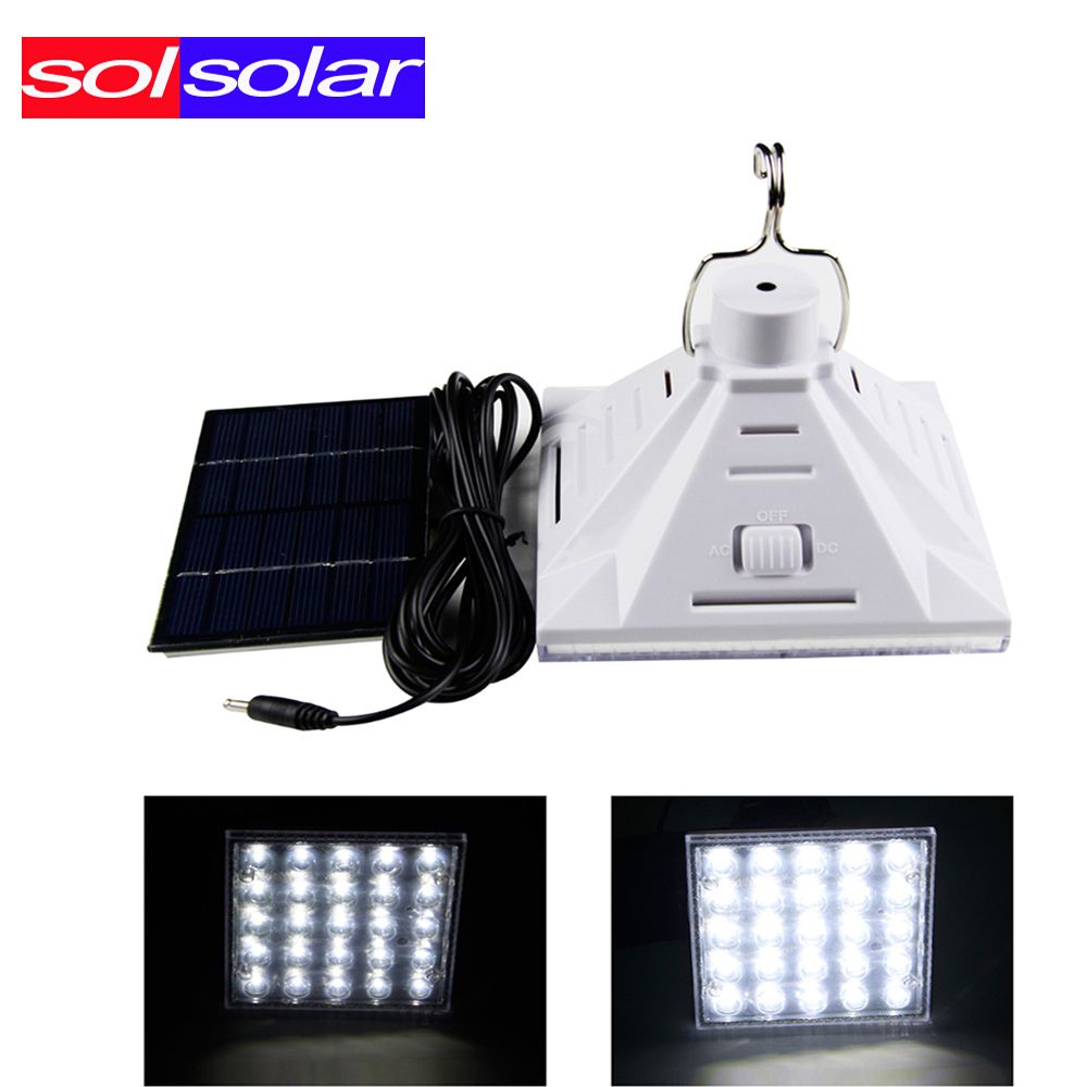 Solsolar 2016 New 25pcs 3528 Portable Solar Ed Led Lighting System Work Time 7 Hours Rechargeable Energy Bulb