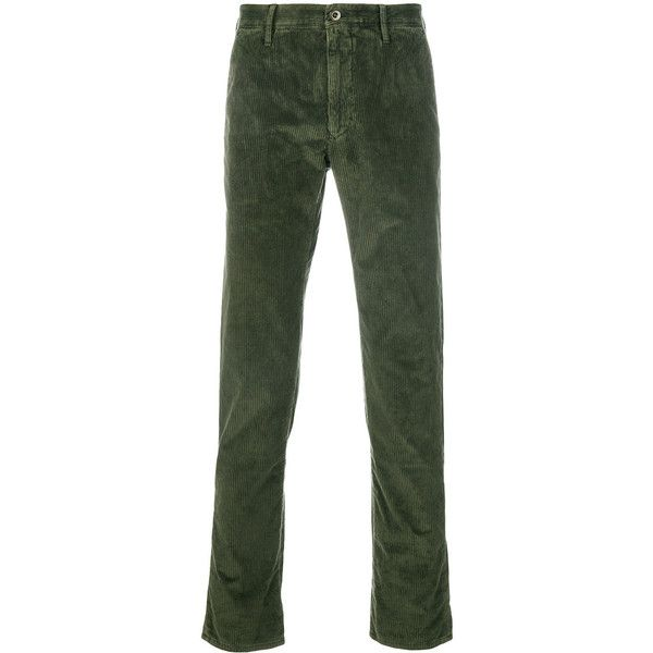 7c4f79422336 Incotex corduroy trousers ($210) ❤ liked on Polyvore featuring men's  fashion, men's clothing, men's pants, men's casual pants, green, mens green  pants, ...