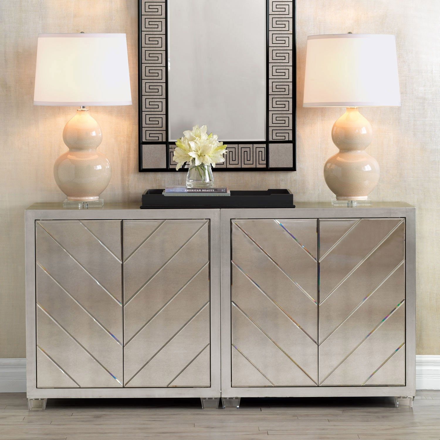 Materials Woodlucitemirror The Delray Cabinet Is Finished In Hand Applied