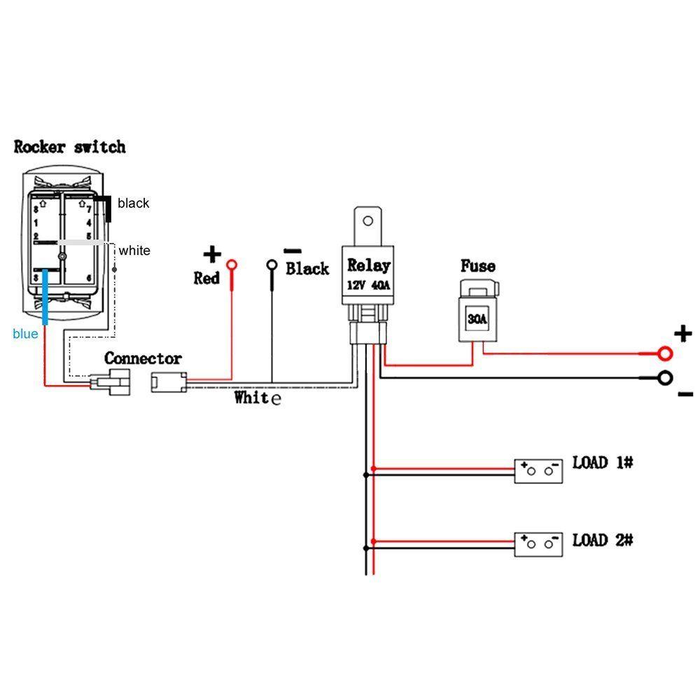 kkmoon barra de luz led interruptor de eje de balanc u00edn encendido  apagado con rel u00e9 arn u00e9s de