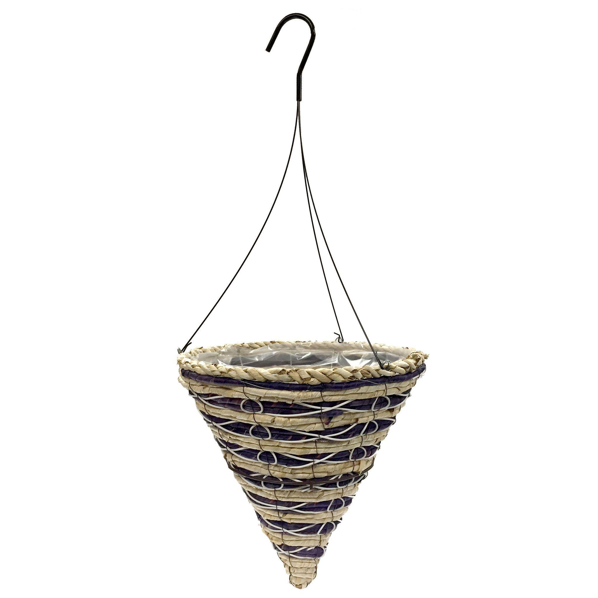 Cone Hanging Basket W Wire Hanger20 Case Hanging Baskets Hanging Cone