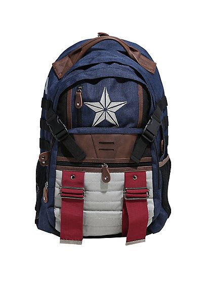 37cf3d905f9c Marvel Captain America Backpack - Visit to grab an amazing super hero shirt  now on sale!