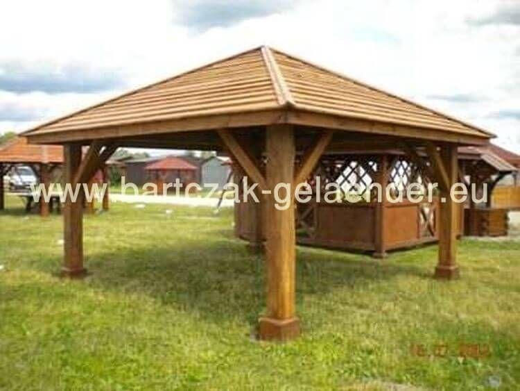 Garten Holzpavillon Bartczak Gelaender In 2021 Holz Pavillon Holzpavillon Pavillon