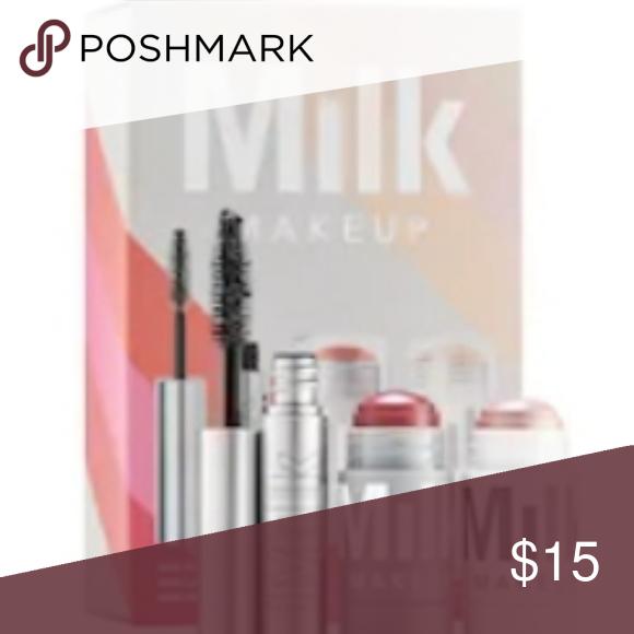 Milk makeup trio set Mascara, cheek/lip balm, and face